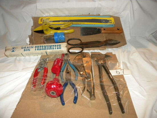 Misc. Tools= Fencing Tool; Leather Punch; Pliwea, Cutters, Metal Cut Etc.