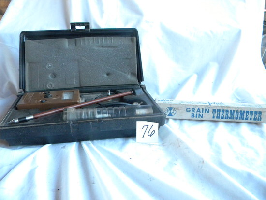 Grain Bin Thermometer; Hay Moisture Test Detector.