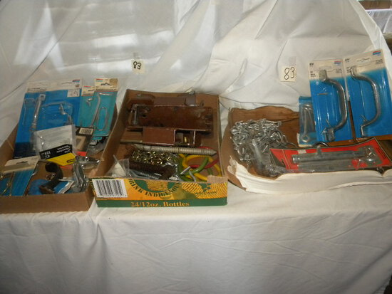 Two Boxes Gate Bolts; Locks; Door Handles; Latches Etc.