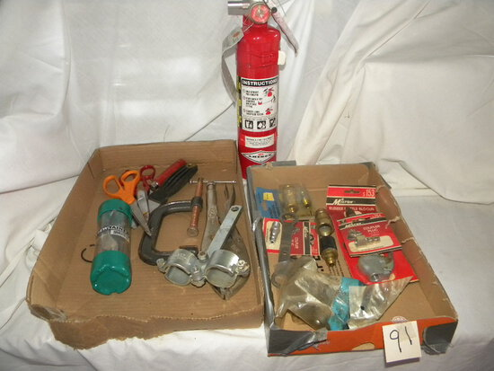 Fire Extiquisher; Vice Grip; Scissors; Clamp; Allen Wrenches; Pneumatics