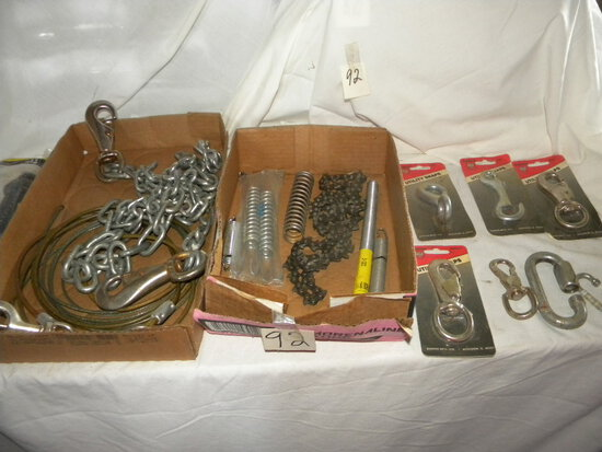 Utility Snaps; Chain Saw Chain; Misc. Chain Pieces W/couplers
