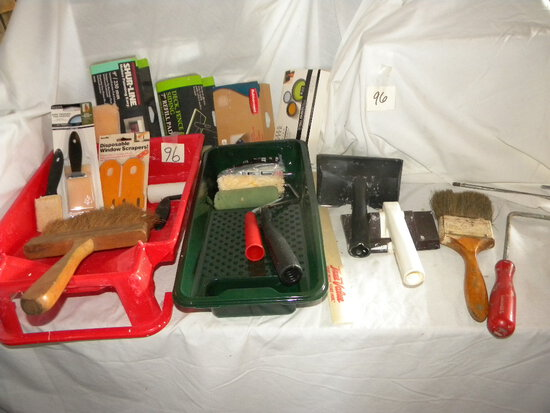 Two Tray S With Rollers, Pads, Brushes And More.