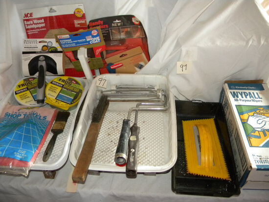"""6"""" Master Painter Pad, Rollers W/extensions, Tape Rolls, And More."""