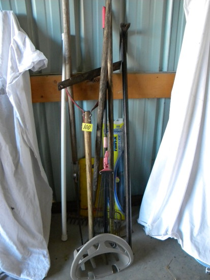 Crow Bar, 4ft L; Pair Of Hand Weed Scythes; And More.