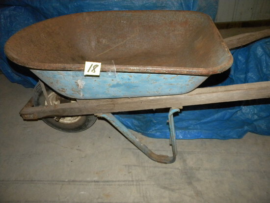 Metal Box, Rubber Tire, Wheel Barrow.