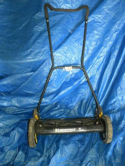 "Yard Works, Mechanical Push 20"" Reel Lawnmower"