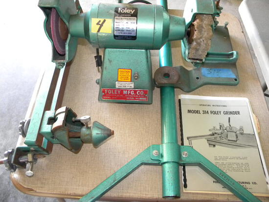 Foley Saw Blade Grinder, Model 314 W/instructional Manual.