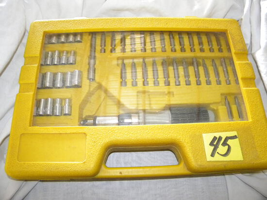 """50 Piece, 1/4"""" Drives With Case"""