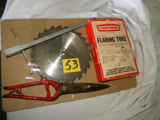 "Craftsman Flaring Tool; Saw Guide; 7"" Saw Blade; Lawn Shear."