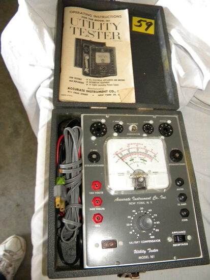 Accurate Instrument Co., Utility Tester, Model 161, W/case, Manual.