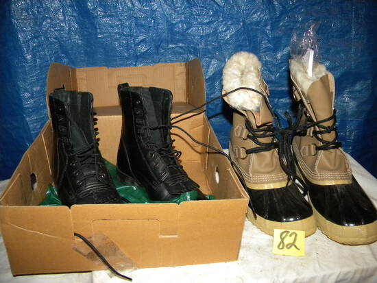 Aria Black (new) Black High Top Ladies Shoes, Size 8; Pair Of Insulated Bo