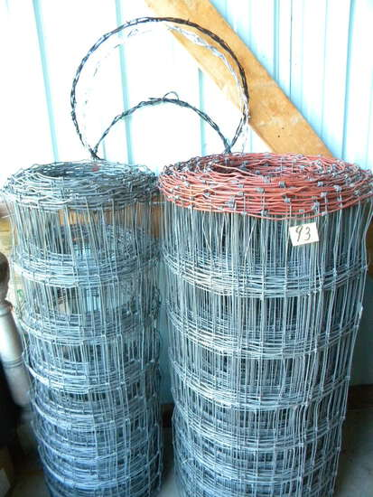 One Full Role And One Partial Roll Of New Woven Wire.