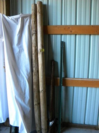"""Electric, 48"""" (25); Posts; Pair Of 85"""" Wood Posts; 4 Steel 50"""" Steel Garden"""