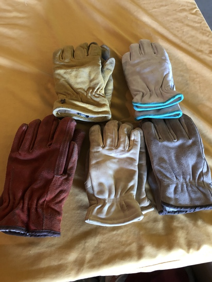 Heavy Gloves= 2 Pair Large; 2 Pair Small.