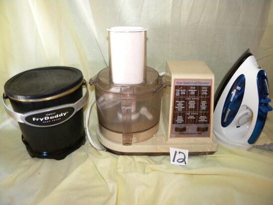 Hamilton Beach Dual Speed Food Processor; Panasonic Max 3-way Cloths Iron;
