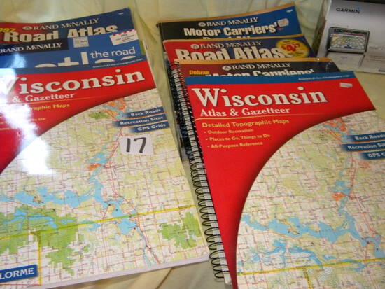 Garmin Unit; 7 Road Atlas.