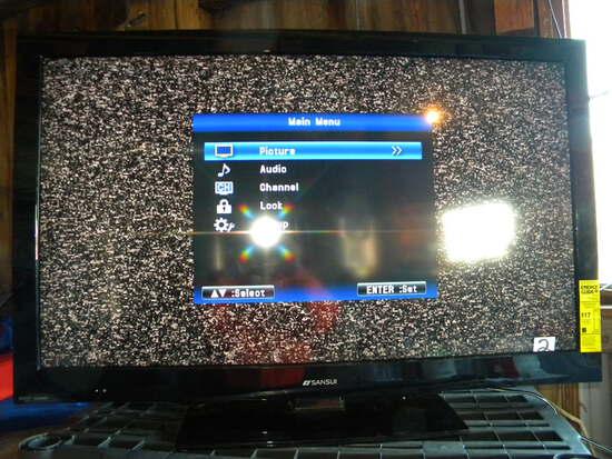 "Engertainment=Sansui Tv, 46"", Model 4650, Works, No Remote, W/original Container."