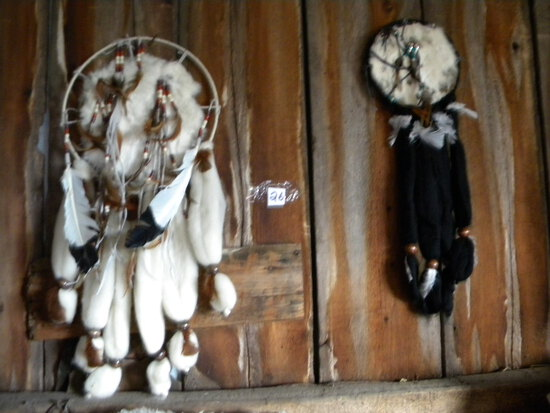 Pair Of Native American Dream Catchers.
