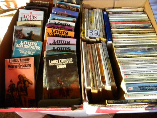 Louis L' Amour books approx 50