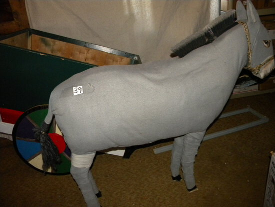 Home Made Donkey And Wood Cart , Prop For Holiday Or Any Festivity.