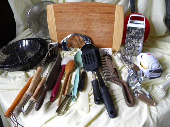 Cutting Board; Colander; Steamer; Grill Utensils; Graders And More.