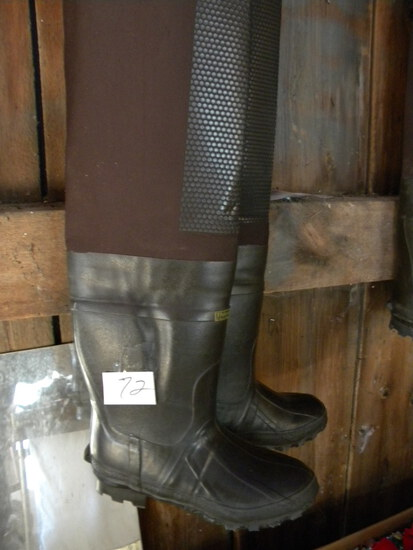 Fishing=Thinsulation Shoulder Waders, Steel Shank, Size 9.