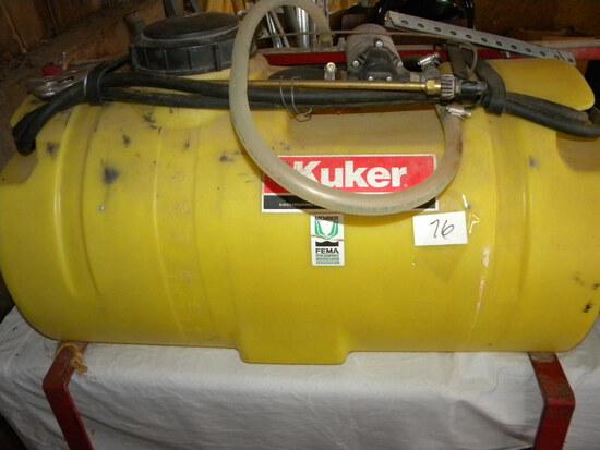 Kuher 15 Gallon 12 Volt. Sprayer, Pump.