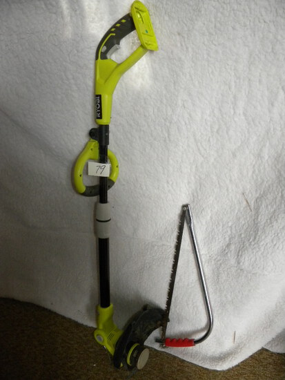Ryobi 110 V. String Weed Wacker; 20 Inch Limb Saw.
