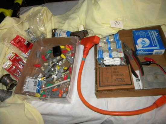 Two Boxes Of Misc. Electrical Items.