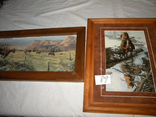 "Print ""Spirit of The Grizzly"", By Bev Doolittle; ""crossing Stream"". Framed 19 X 14"