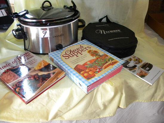 "Kitchen=Nuwave Oven-pro W/cookbook; Crockpot W/cookbook; ""church Supper Cookbook"";"