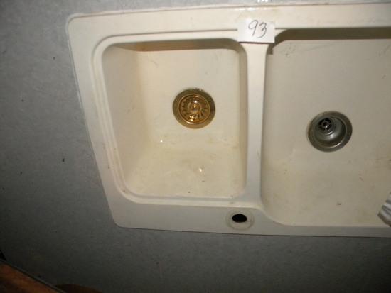 """Double Sink With Shelf, 36"""" D X 37""""w."""
