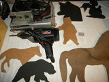 Shop Eqpt.=Black And Decker Jig Saw W/box; Variety Of Western Cut-outs; Craftsman 3/8