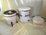 Popcorn Popper-electric; Toastmaster Waffle Maker; Black/decker Steamer.