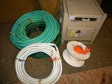 Three 50' Garden Hose; Water Hose Storage Box; Water Hose Reel.