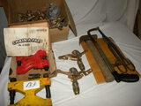 Metal Shears; Hack Saw; Hammer; Lawn Sprinkler Copper Heads; Fencing Items;