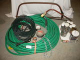 Pair Of Limb Saws; 100 Ft Of Water Hose; Fasteners Etc.