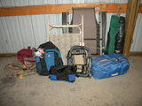 Patio Metal Folding Chairs; folding  lounge chair,  Pair Of Tents; Pair Of Duffle Bags; Pai