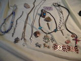 Jewelrey=Nickle Ring W/stones; Copper W/magnet; Arrow Head W/magnet; Pair Of Neckles