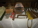 Electric Calf Dehorner; Old Wrenches; Water Heater; Ratchets; And More.
