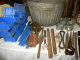 Old Silage Basket; Antique Tools; Vhs Movies; 110v Elect. Box.