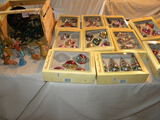 10 Boxes Of Christmas Tree Decorations By European Craftsman.