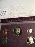 Coins=1987 S Us Proof Set.