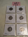 Coins=Old Jefferson Nickels= ]940, 1941, 1955, 1963, 1966, 1974.