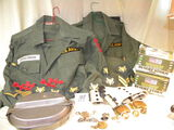 Military=Two Army Issue Shirts, Small W/ Sgt. Stripes; Two Boxes Desert Storm Card G