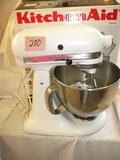 Kitchen Aide Mixer, 10 Speed, 5 Qt. Recipe Book, In Original Box.