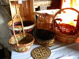 Wicker And Wooden Baskets