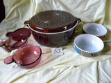 ; Usa Casserole Dishes W/cover;