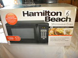 Kitchen=Hamilton Beach 1000 W Microwave Oven, New, In Original Container, 1.1 Cf.