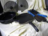 Fry Pans= 5qt. Tramontane; Flat Waffle Pan; Cooler Essential Rectangle; Mir